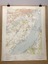 Wilmington Delaware Penns Grove New Jersey County Map Topographical Survey 1948