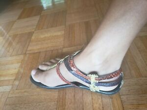 NWOB Women's MIA Hyram  Croc Sandals Size 7.5 multi color