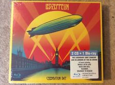 Led Zeppelin Celebration Day (10/12/2007) 2 CD + Region A-C Blu Ray (New/Sealed)