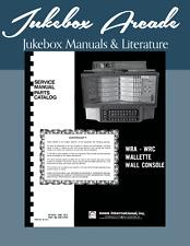 Rowe AMI Wall Box WRA 200 Service Manual & Parts Catalog from Jukebox Arcade