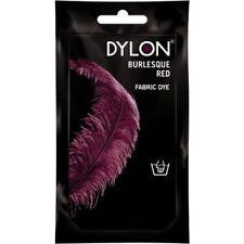 BURLESQUE RED DYLON HAND WASH FABRIC CLOTHES DYE 50g TEXTILE PERMANENT COLOUR