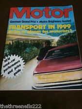 MOTOR MAGAZINE - MATRA BAGHEERA - AUG 6 1977