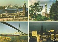 AK, Hamburg, vier Abb., ca. 1965