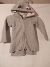Baby GAP Bunny Ear Knit Cardigan Sweater Hooded Zippered Jacket 3T Wool Blend