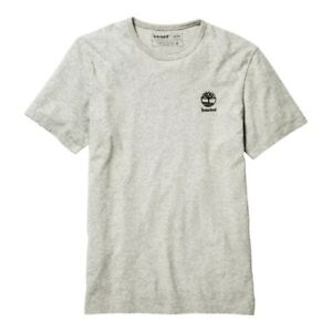 Timberland Men's Short Sleeve Box Logo Graphic Tee Grey-Black TB0A22RP-052