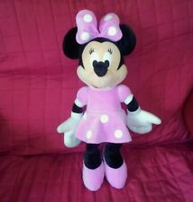 Disney MINNIE MOUSE Large 19in Velour Soft Plush Doll Black Pink Dress Bow Shoes