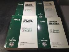 1998 Camaro Firebird Trans Am Shop Manual Lot Z28 SS Formula SLP Firehawk LS1