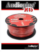 10 GA Gauge 250FT Power Ground Wire Cable Copper Clad Audiopipe PW-10-250 Red