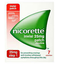 Nicorette Invisi 25mg Patches - Step 1 - 7 Patches Free Postage