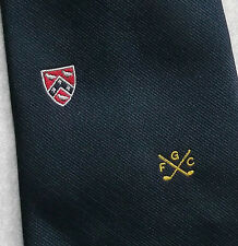 FGC GOLF CLUB WIDE TIE F.G.C. SPORT VINTAGE 1960s 1970s NAVY MOD BY TOOTAL