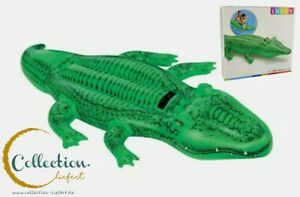 ✅ Intex aufblasbares großes Krokodil zum Draufsetzen mit Haltegriffen