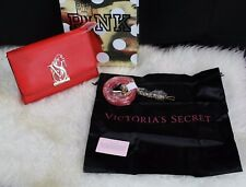 Victoria's Secret Genuine Leather Clutch Purse (Red Passion)