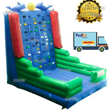 16x13x16ft Commercial Inflatable Climb Rock Climbing Bounce Wall With Air Blower