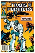 TRANSFORMERS #25 (FN) MEGATRON Cover! 1st Predacons! Marvel Newsstand 1987