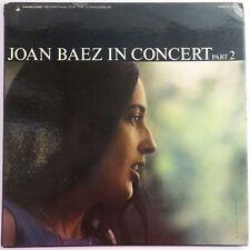 In Concert Part 2 by Joan Baez, Vanguard 1963 USA LP Vinyl Record
