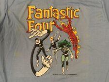 vtg Marvel comics Fantastic Four t shirt horror 80s promo all over print x-men
