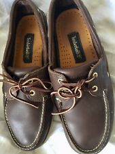 Timberland Classic 2 Eye Brown Leather Deck Boat Shoes Mens Size UK 10