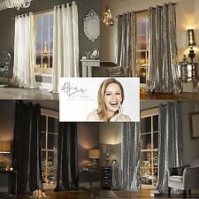 Luxury Silver Eyelet Curtains by Kylie Minogue Home Living 66in Wide X 90in Drop