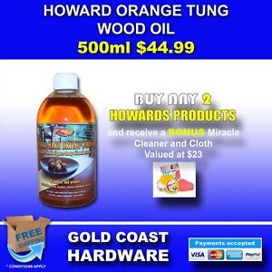 HOWARDS PURE TUNG OIL WITH ORANGE OIL BY HOWARD PRODUCTS