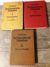 3 Bände aus 1929-37: Der Unterricht in der Volksschule / 1., 3. u. 4. Schulstufe