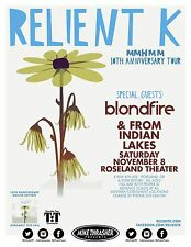 RELIENT K 2014 Gig POSTER Portland Oregon Concert