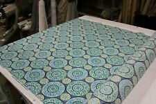 RICHLOOM BERKSHIRE HOME TABEA OCEAN INDOOR OUTDOOR HOME DECOR POLY FABRIC 54