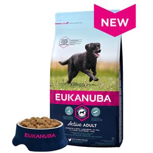 Damaged Eukanuba Large Breed Active Adult Chicken Dry Dog Food- 12kg