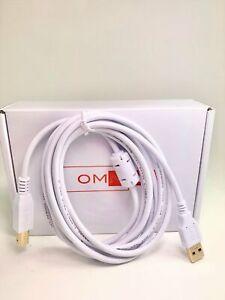 OMNIHIL White 8 Feet Long High Speed USB 2.0 Cable for HP DESKJET 3752