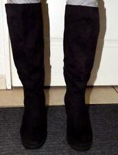 jolies bottes hautes nubuck noires comme neuves talon 9 cm devant 1,5 cm T 38