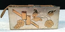 Antique 2 Sided Metal Dance Purse w/Chain