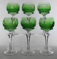 6 sehr seltene Klokotschnik Hochbleikristall Weingläser 30% Pbo