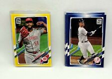2021 Topps Series 1 Yellow/Blue Retail Parallel Pick Any Card Complete Your Set