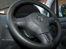 FITS MITSUBISHI COLT MK6 2004-2012 REAL BLACK LEATHER STEERING WHEEL COVER NEW