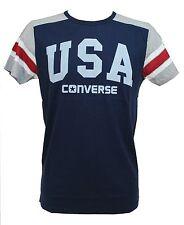 T-SHIRT UOMO CONVERSE BLU TG. M MAGLIA MAGLIETTA U.S.A. 6SU330C LOGO MAN USA