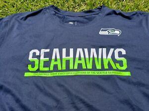 NEW Seattle Seahawks Nike Dri-Fit NFL EQUIPMENT S/S LEGEND TRAINING SHIRT XL MEN