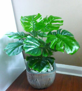 12x Artificial Monstera Branch Fake Turtle Leaves Green Plant Home Wedding Decor