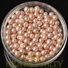 New 50pcs 6mm Round Glass Pearl Loose Spacer Beads Jewelry Making Pearl Pink