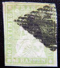 Schweiz Switzerland Kat. 26C used 1855 Strubel Kat. 140 Fr. Mit Farblosem Kreis