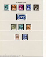 SWITZERLAND  OFFICIALS SOCIETY OF NATIONS LOT USED STAMPS AS SHOWN