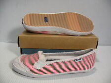 KEDS CH RAILROAD LOW WOMEN SHOES SO/ RED WF19805 SIZE 9 NEW