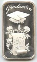 Graduation 1974 Art Bar .999 Silver Medal - Madison Mint - 1 oz Troy - BC502