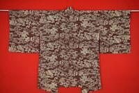 Vintage Japanese Kimono Silk Antique BORO HAORI Kusakizome Dyed/YR44/635