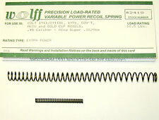 WOLFF™ 18.5 POUND VARIABLE RECOIL SPRING fits  M1911/A1 .45  ACP PISTOL Auto