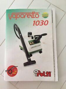Polti Vaporetto 1030 Manuel d'instruction , Notice d'utilisation