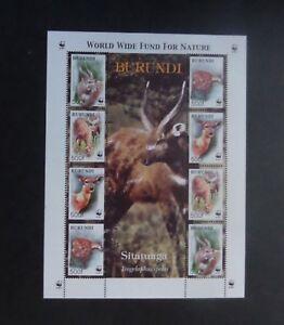 Burundi 2004 WWF Panda nature Sitatunga deer sheetlet MNH UM unmounted mint