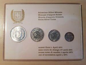 Schweizer Silber-Münzen Satz 1967