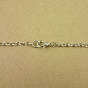 Antique Silver Iron Oval 2x3mm Assembled Chain Necklace Nickel Free