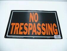 Aluminium Tin No Trespassing Sign Black And Orange