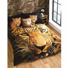 Leoparden einzeln Bettbezug & Kissenbezug Set NEU Tier Aufdruck