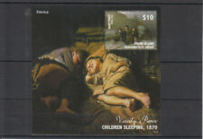 Sheet Russian Art Postal Stamps